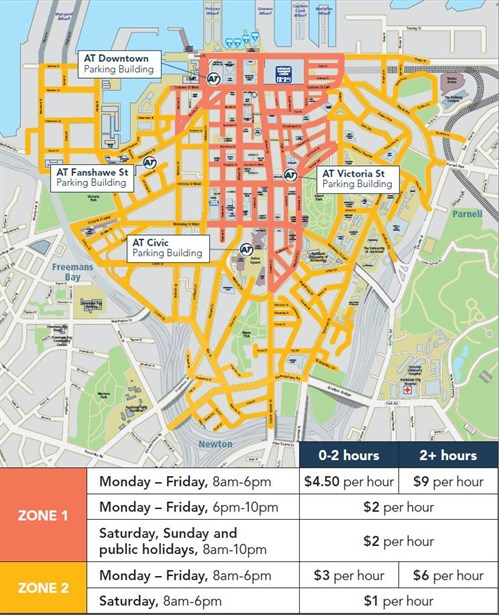 Parking In Central Auckland - Real time map of us time zones