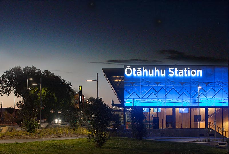 Otahuhu station night 1