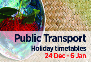 Bus, train and ferry Christmas holiday timetables